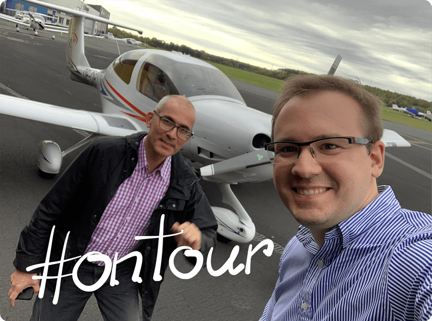 On Tour to our clients | e&Co. AG | Self flying