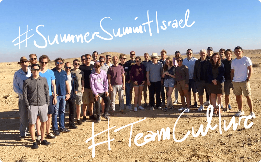 Summer Summit in Tel Aviv, Israel | e&Co. AG Culture | Team Spirit
