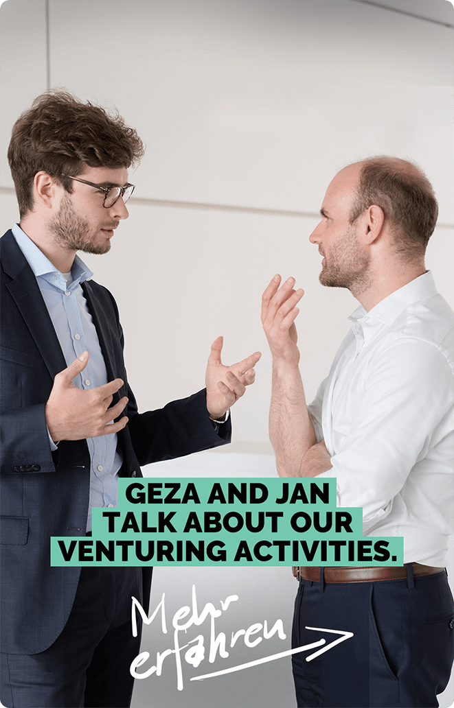 Geza and Jan talk about our venturing activities