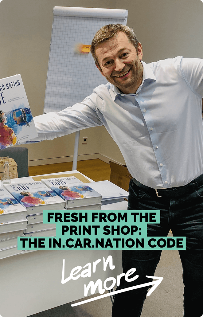 Fresh from the print shop: The In-Car-Nation Code | e&Co. AG
