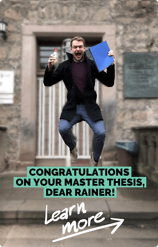 Congratulations on your master thesis, dear Rainer! | e&Co. AG