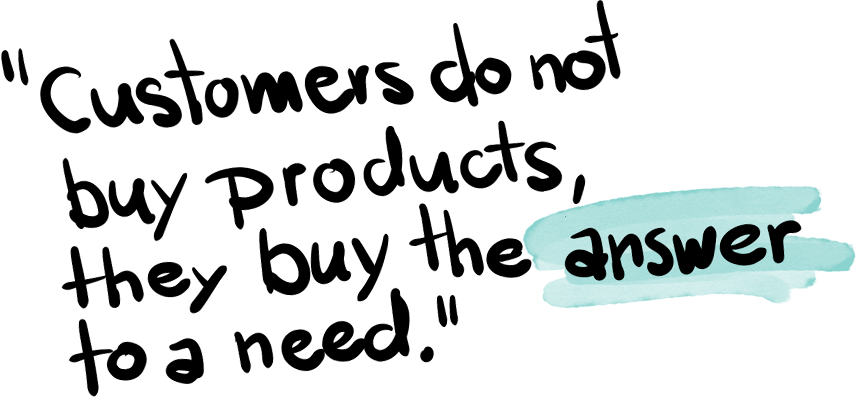 Customers do not buy products, they buy the answer to a need | Consulting @ e&Co. AG