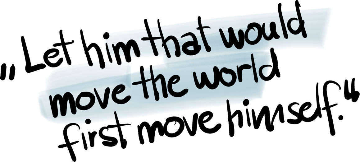 Let him that would move the world first move himself | e&Co. AG