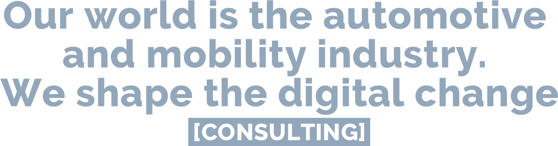 Our world is the automotive and mobility industry. We shape the digitral change. | Consulting @ e&Co. AG