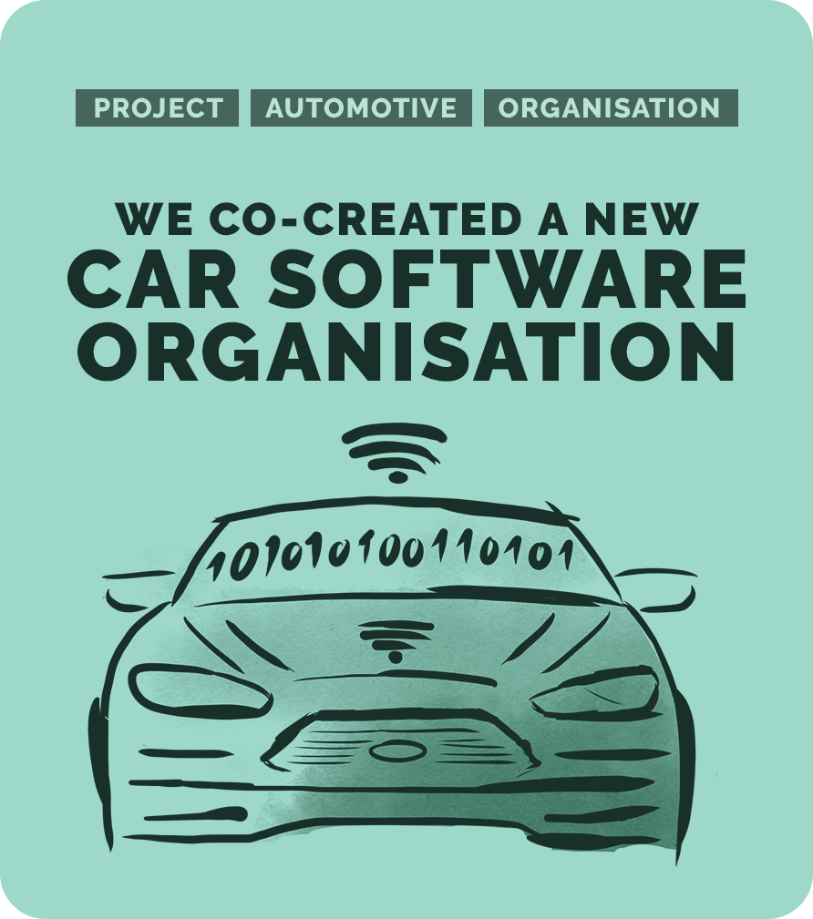 We co-created a new car software organisation