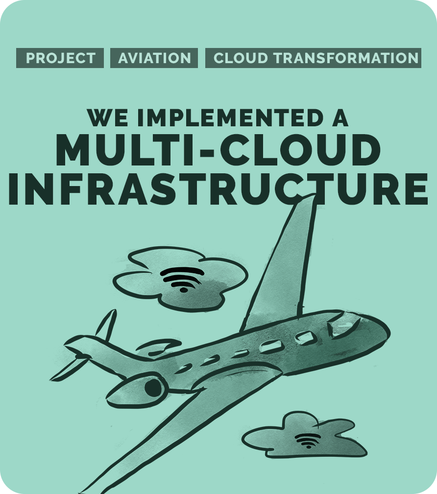 We implemented a multi-cloud infrastructure